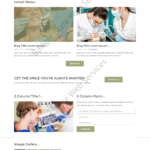 Dental Web Design Mockup-A