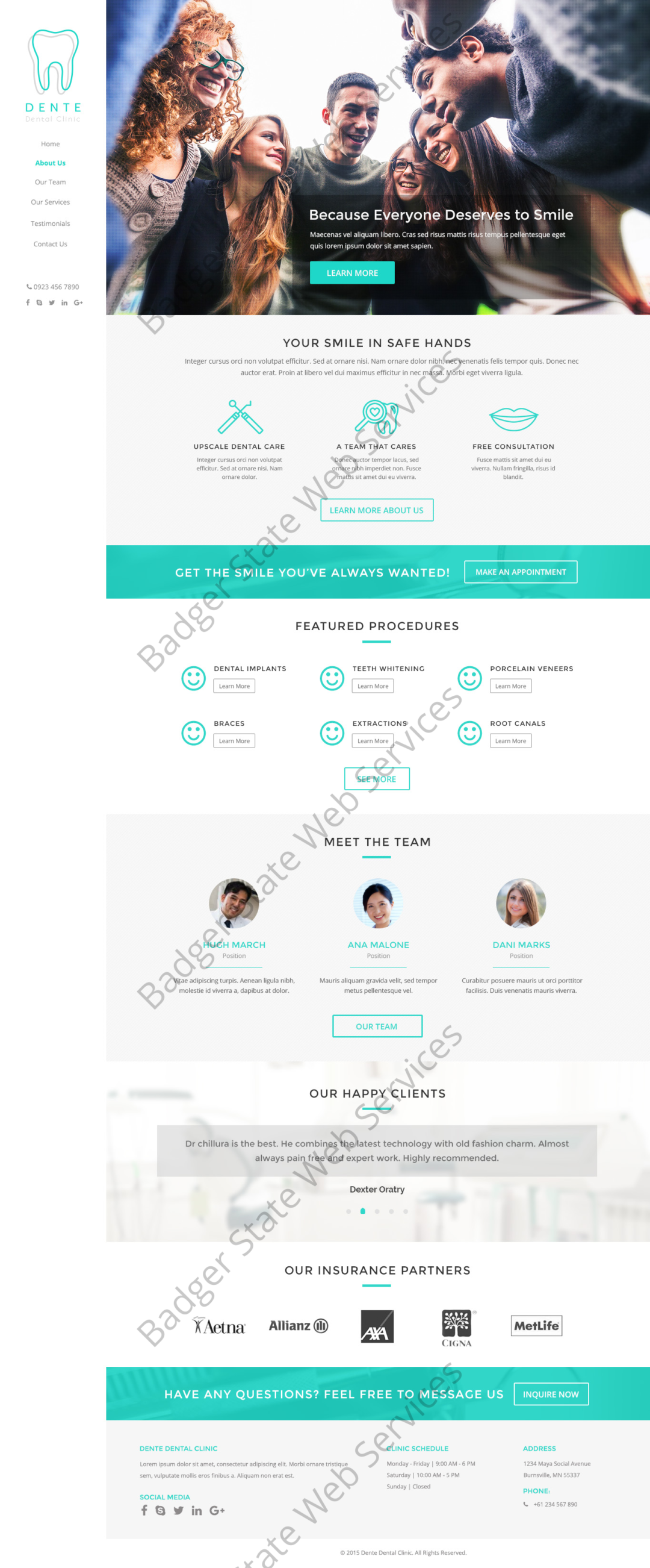 Dental Web Design Mockup-B
