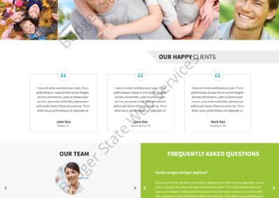 Dental Web Design Mockup-C