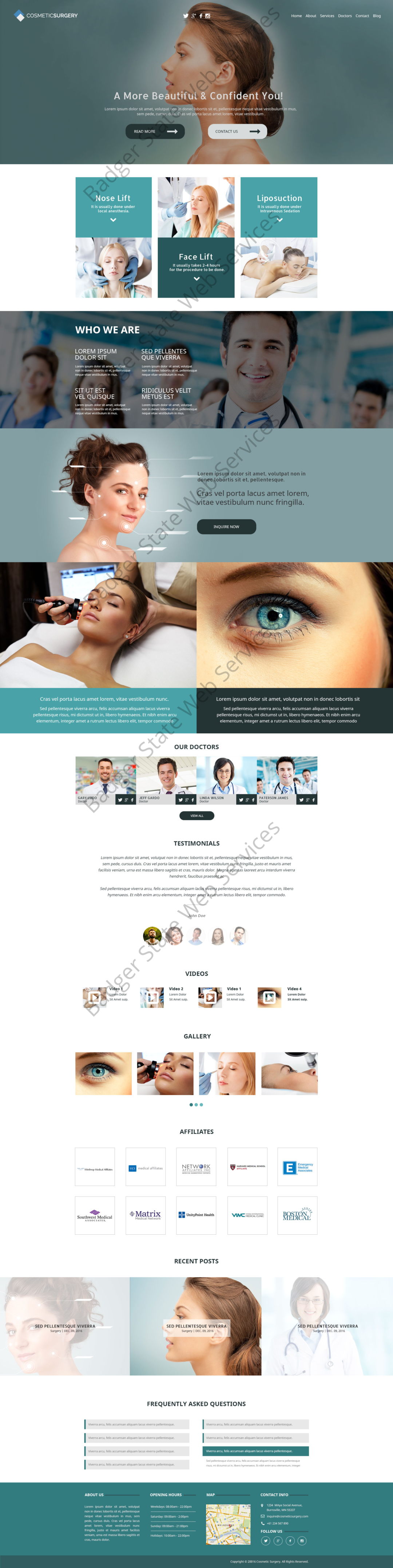 Cosmetic Web Design Mockup-G