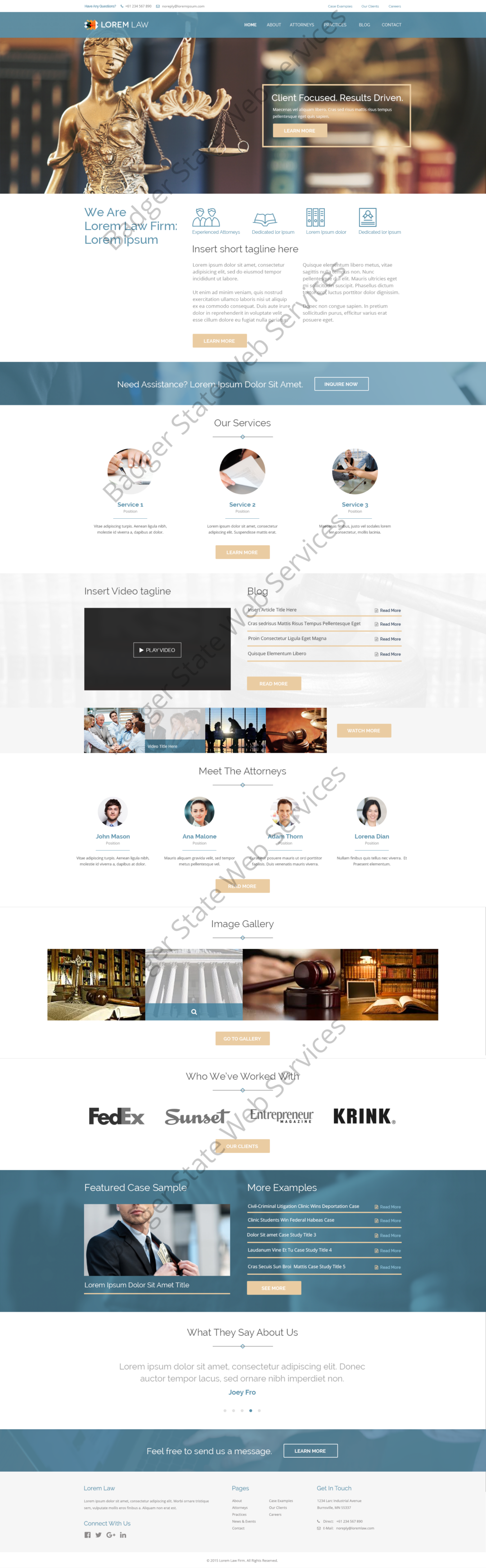 Lawyer Web Design Mockup-M