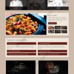 Restaurant Web Design Mockup-S