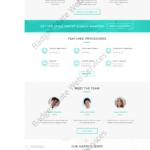 Dental Web Design Mockup-B