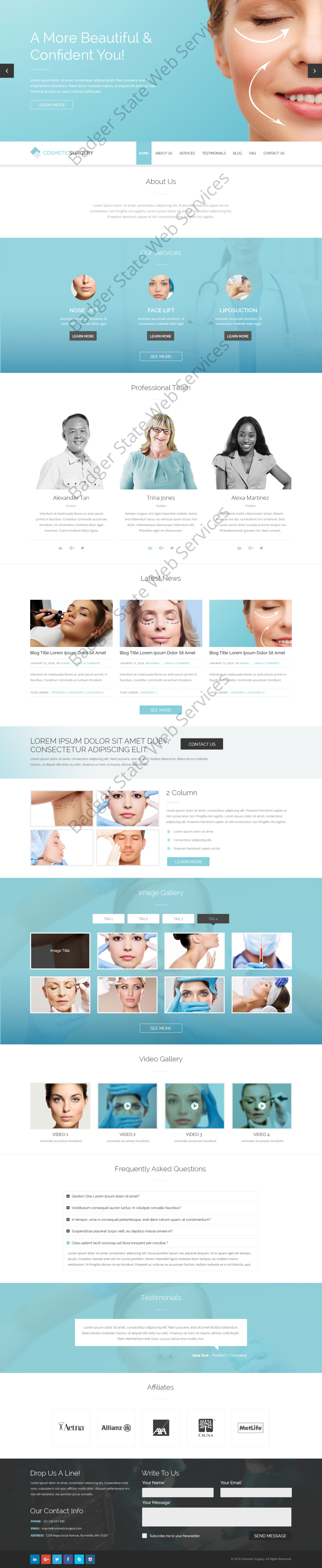 Cosmetic Web Design Mockup-F