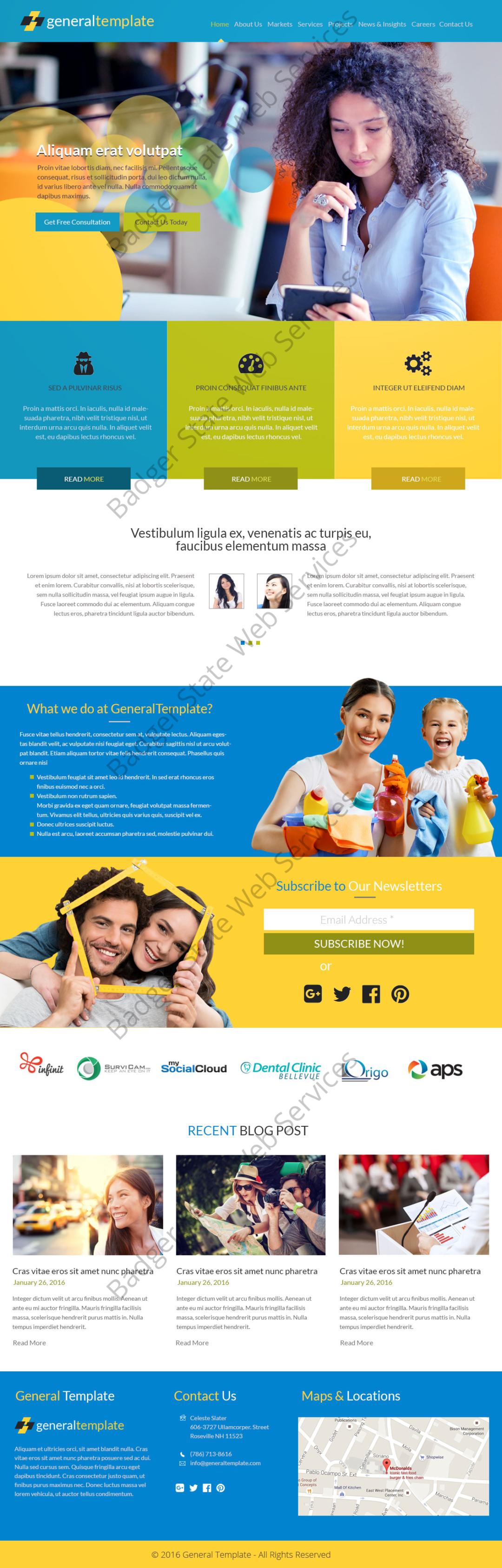 General Service Web Design Mockup-I
