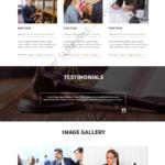 Lawyer Web Design Mockup-K