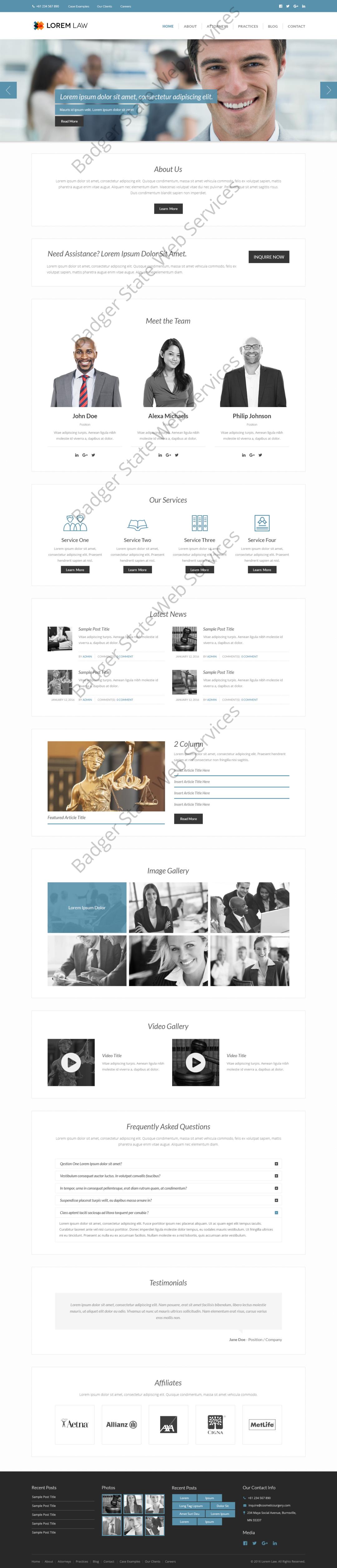 Lawyer Web Design Mockup-L
