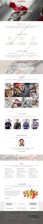 Plumbing Web Design Mockup-N