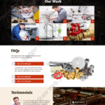 Plumbing Web Design Mockup-P