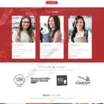 Restaurant Web Design Mockup-R