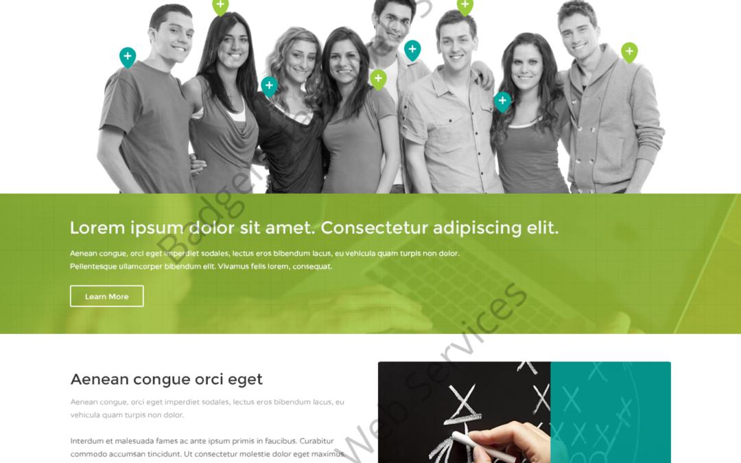 SEO Web Design Mockup-U