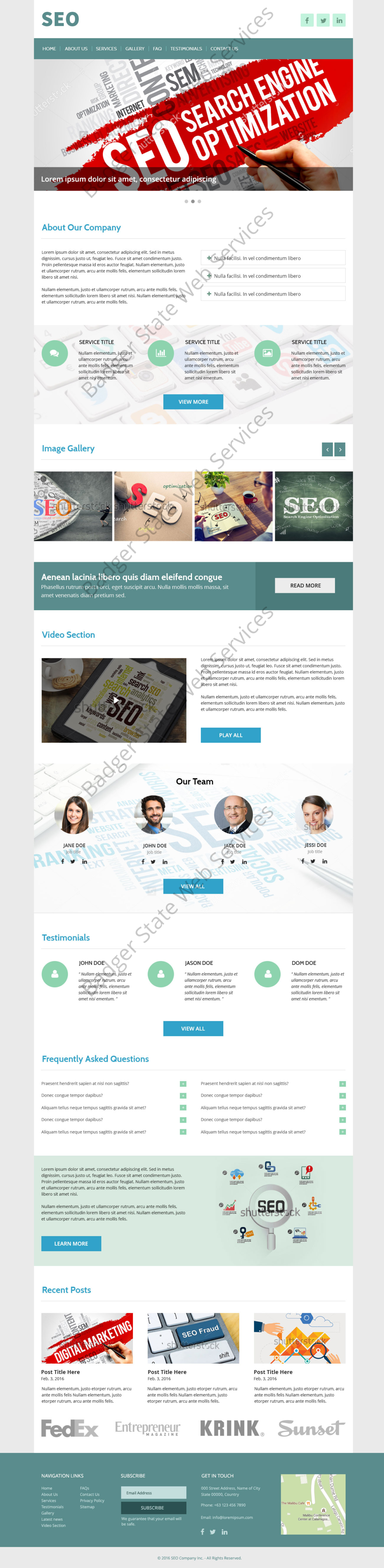 SEO Web Design Mockup-W